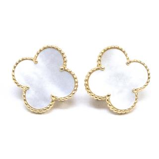 Van Cleef & Arpels Alhambra Gold and Mother of Pearl Earrings