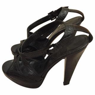 Burberry Matte Leather like Lizard skin Heels