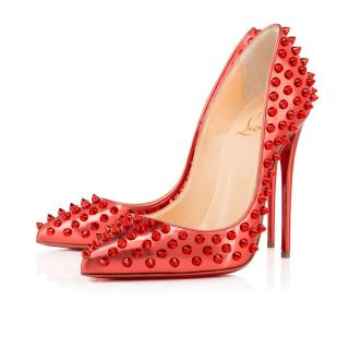 Christian Louboutin Follie spikes in Poppy metal