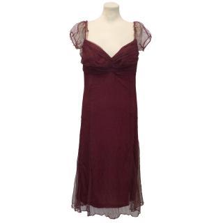 Ulrich Engler Raspberry Lace Mesh Dress