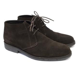 Bruno Magli Chukka Brown Suede Boot
