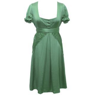 Patrizia Pepe Green Silk Dress
