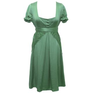 Patrizia Pepe Green Silk Dress
