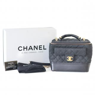 Chanel Diamond Quilted Vanity Bag in Grained Calfskin Leather