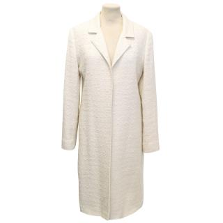 Louise Kennedy Cream Tweed Coat