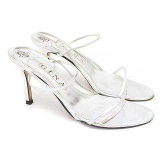 Gina Silver Leather Sandals