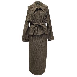 Chanel Tweed Skirt Wool Suit
