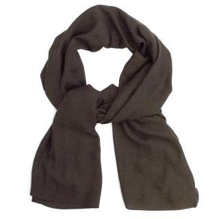 Louis Vuitton Brown Silk/Cashmere Scarf