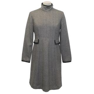 Tommy Hilfiger Herringbone Wool Dress