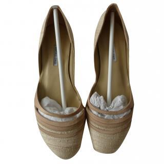 Beatrix Ong Raw Silk Flat Shoes