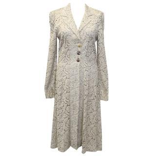 Anonymous Beige Lace Coat