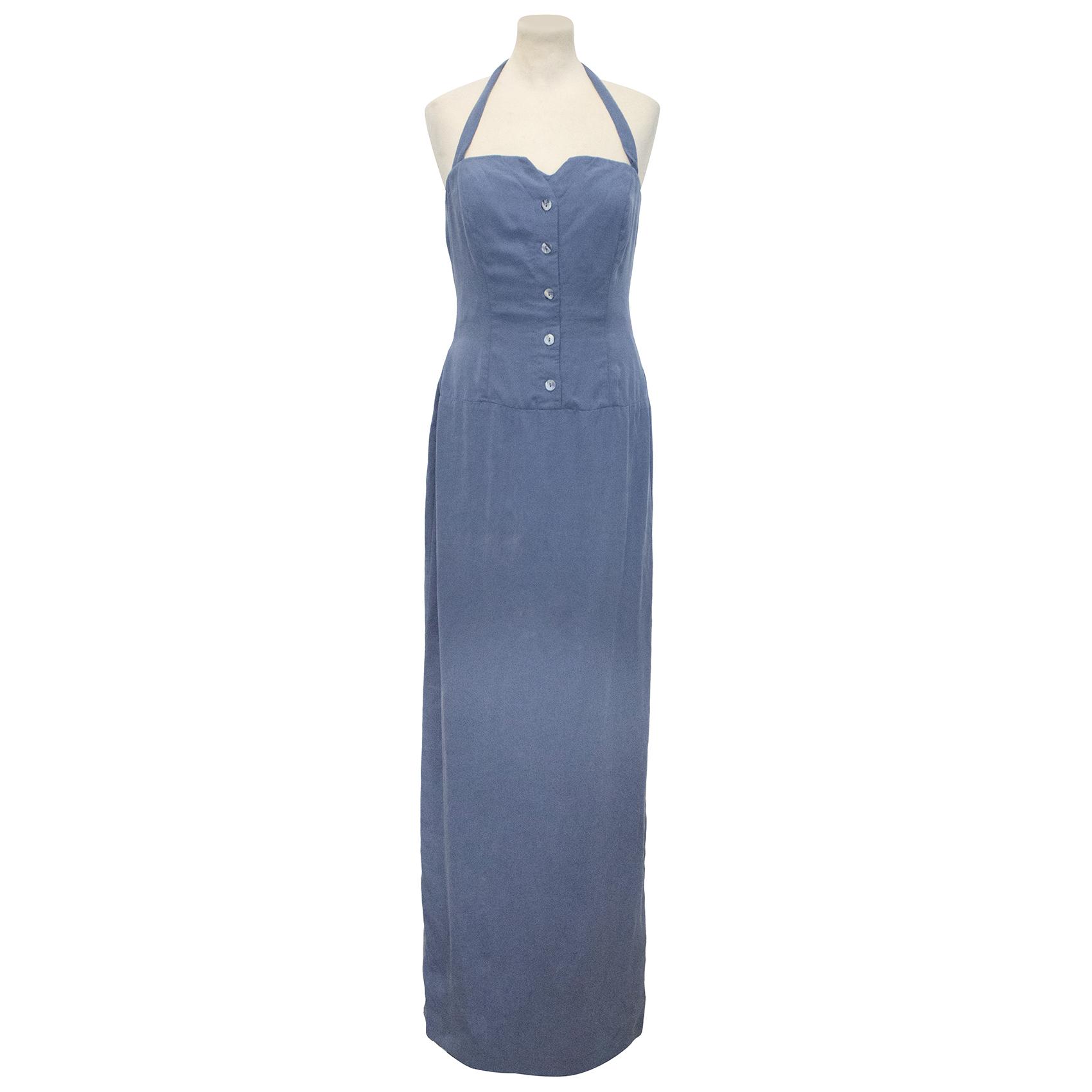 Adam by Adam Lippes Blue Tencel Long Dress