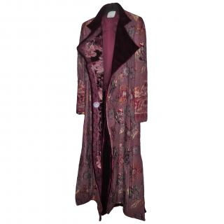 Gianfranco Ferre Long Tapestry Coat