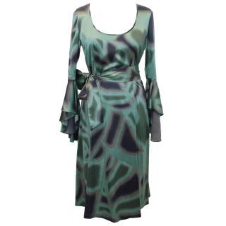 Allegra Hicks Green Silk Dress