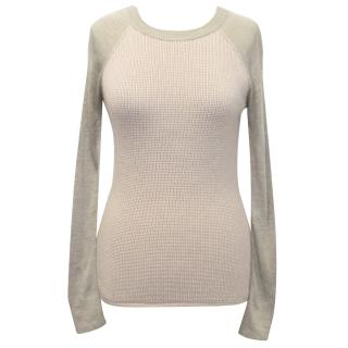 Reed Krakoff Nude and Taupe Wool Jumper