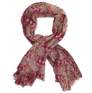 Marc By Marc Jacobs Red Snake Print Scarf
