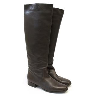 Michael Kors Brown Leather Knee High Boots