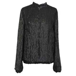 Gryphon New York Black Matt Sequin Jacket