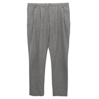 Vionnet Grey Wool Trousers