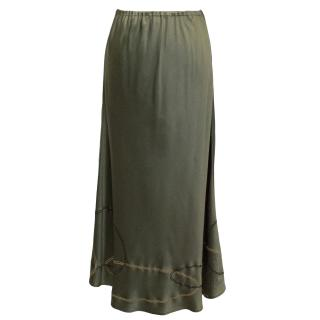 Allegra Hicks London Green Silk Skirt