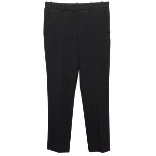 The Row Black Wool Tailored Trousers