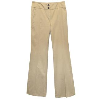 Burberry Beige Cotton Tailored Trousers