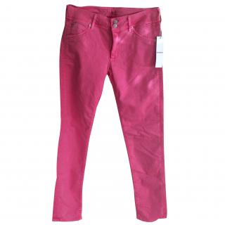 Hudson New Suede Rose Pink Skinny Jeans