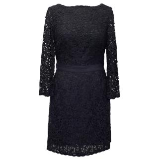 Tory Burch Navy Blue Lace Dress