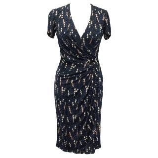 Issa Wrap Around Jersey Printed Dress