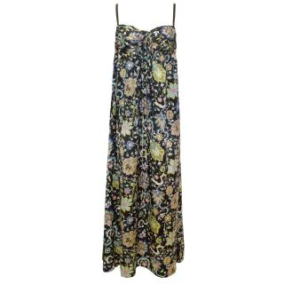 Nieves Lavi Silk Printed Maxi Dress