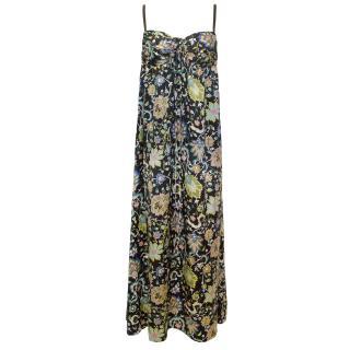 Nieves Lavi Silk Printed Maxi Dress