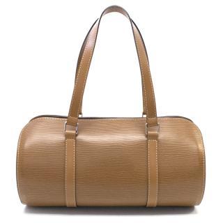 Louise Vuitton Tan Soufflot Epi Leather Handbag