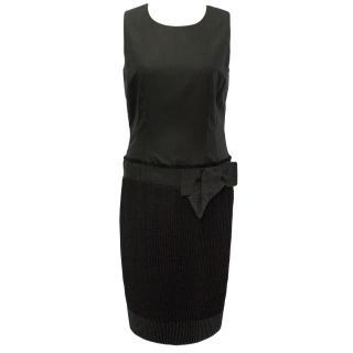 Valentino Roma Black Wool Silk Cocktail Dress