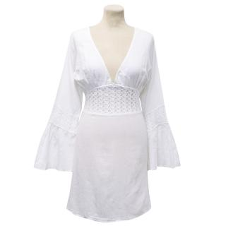 Melissa Odabash White Cotton Beach Dress