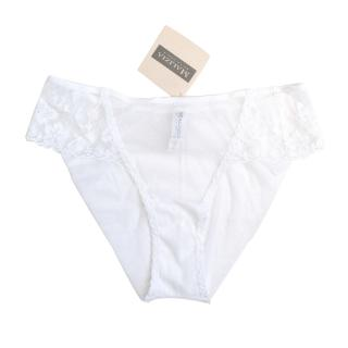 Malizia By La Perla White Embroidered Briefs