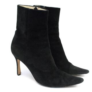 Emma Hope Black Suede Pointed Boots
