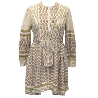 Future Classics Beige Patterned Dress