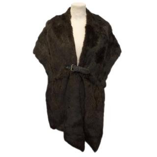 Joseph Brown Rabbit Fur Stole