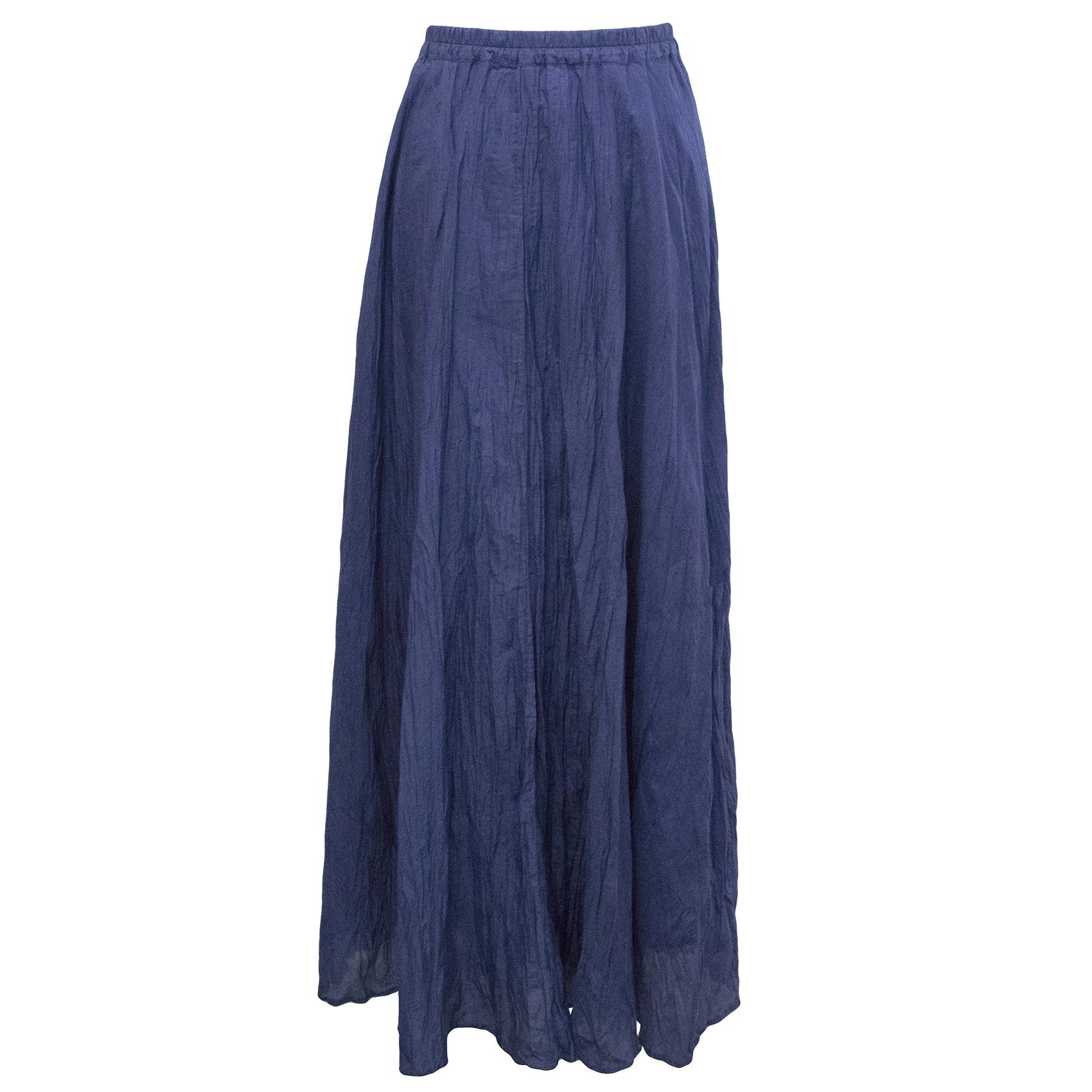 Gerard Darel  Blue Long Silk Skirt