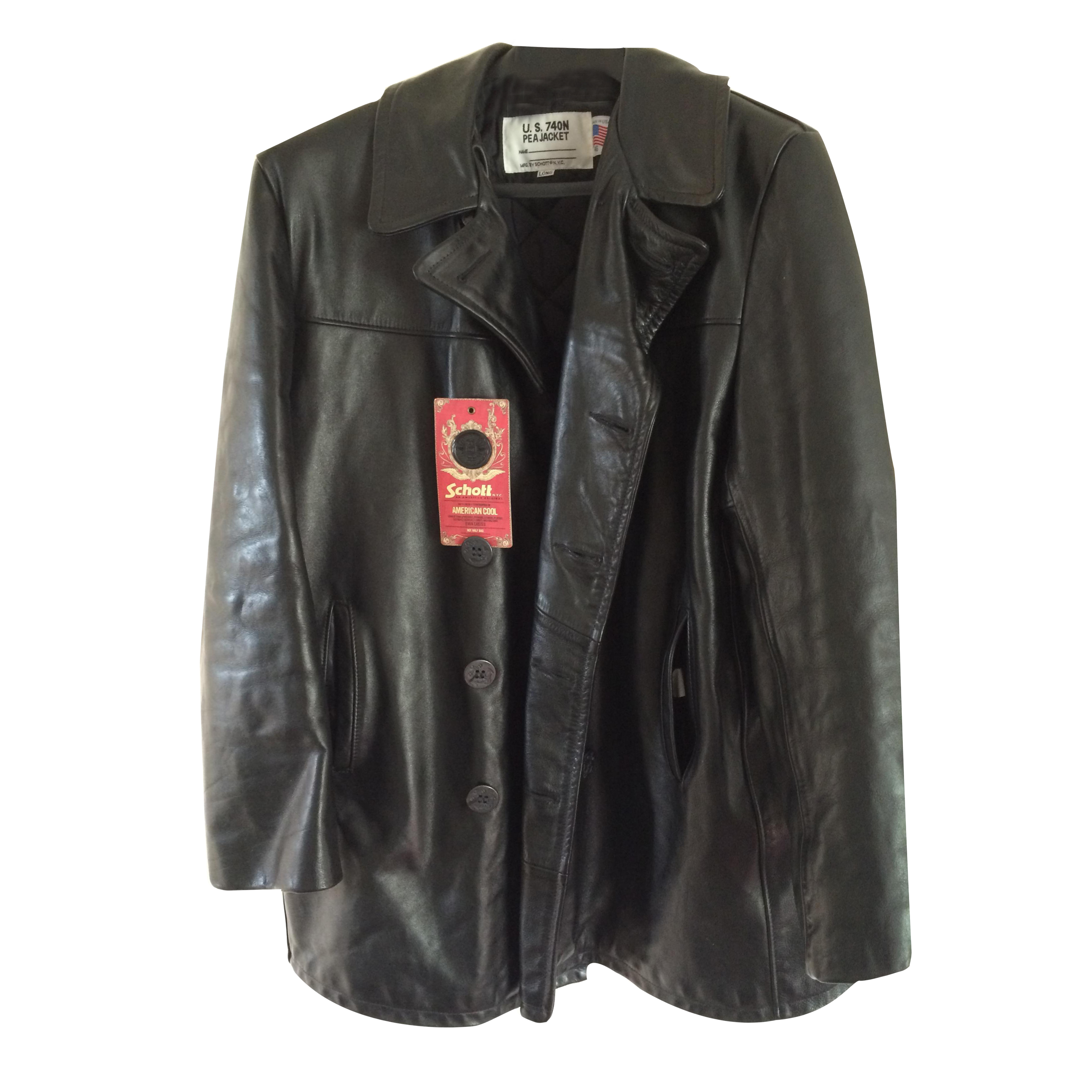 big sale great variety models largest selection of Schott NYC Leather Naval Peacoat