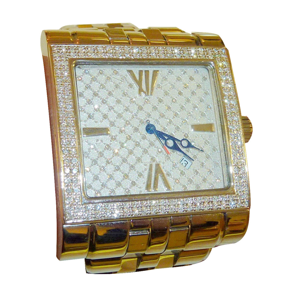 Ritmo Mundo Palazzo full diamond face and bezel unisex dress watch