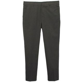 Prada Graphite Wool Tailored Trousers