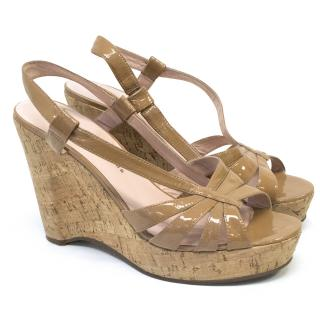 Marc by Marc Jacobs Patent Wedge Sandals