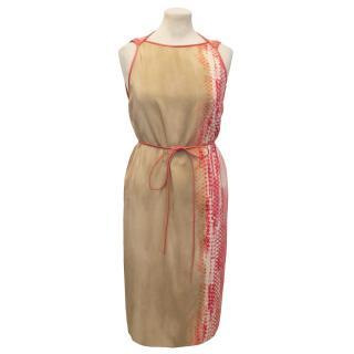 Reed Krakoff Red Snakeprint Dress