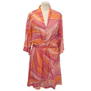 Allegra Hicks Pink and Orange Kaftan Tunic