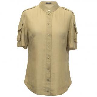 Alexander McQueen Silk Cotton Button Down Top