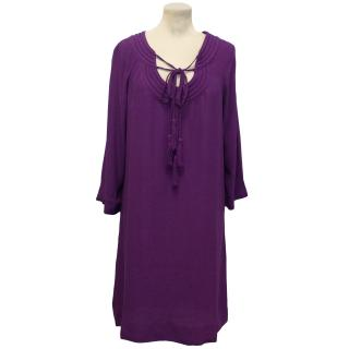 Diane Von Furstenberg Purple Tunic Dress