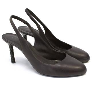 Bottega Venetta Dark Purple Slingback Pumps