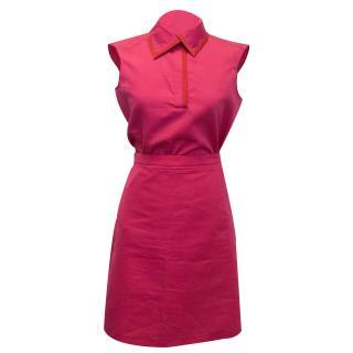 Yves Saint Laurent Hot Pink Sleeveless Shirt Top and Skirt