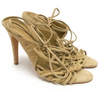 Daslu Suede Strappy Sandals